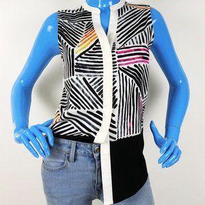 Ivanka Trump Sleeveless Blouse S 4 6 Shirt Geo